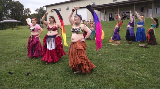 Belly dancers perform at the 7c's Winery Mead Fest Sept. 27. The dancers were part of Red Moon Studio in Springfield, which started in March 2004.