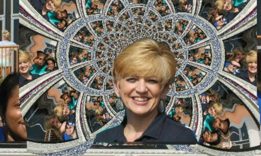 Cindy Wilson is the center of the Middle College kaleidoscope.